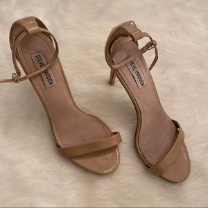 Steve Madden 'Stecy' Blush Leather Heels 8.5